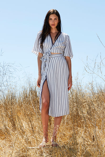 ARIES STRIPE SHIRT DRESS