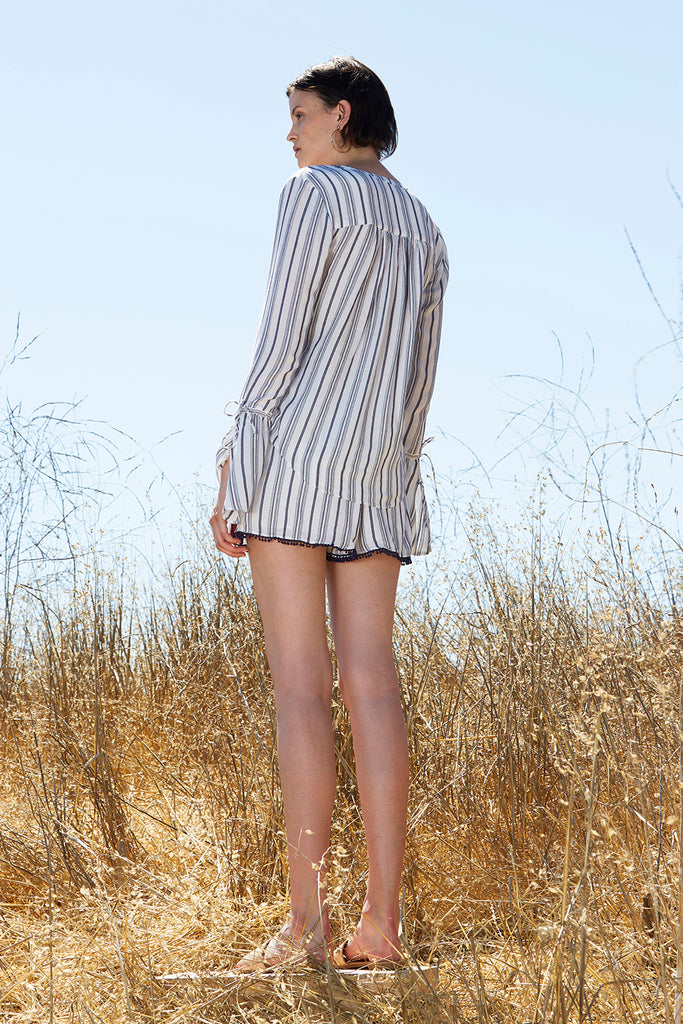 ARIES STRIPE PAPER BAG SHORTS