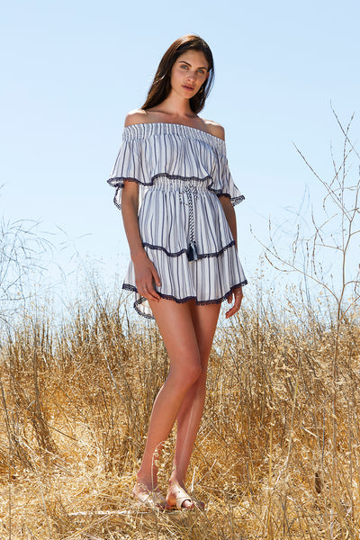 ARIES STRIPE MINI DRESS