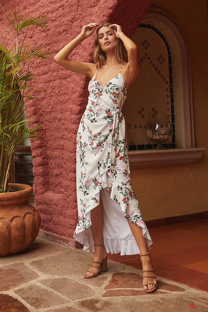 FLOWERS IN YOUR HAIR MAXI DRESS