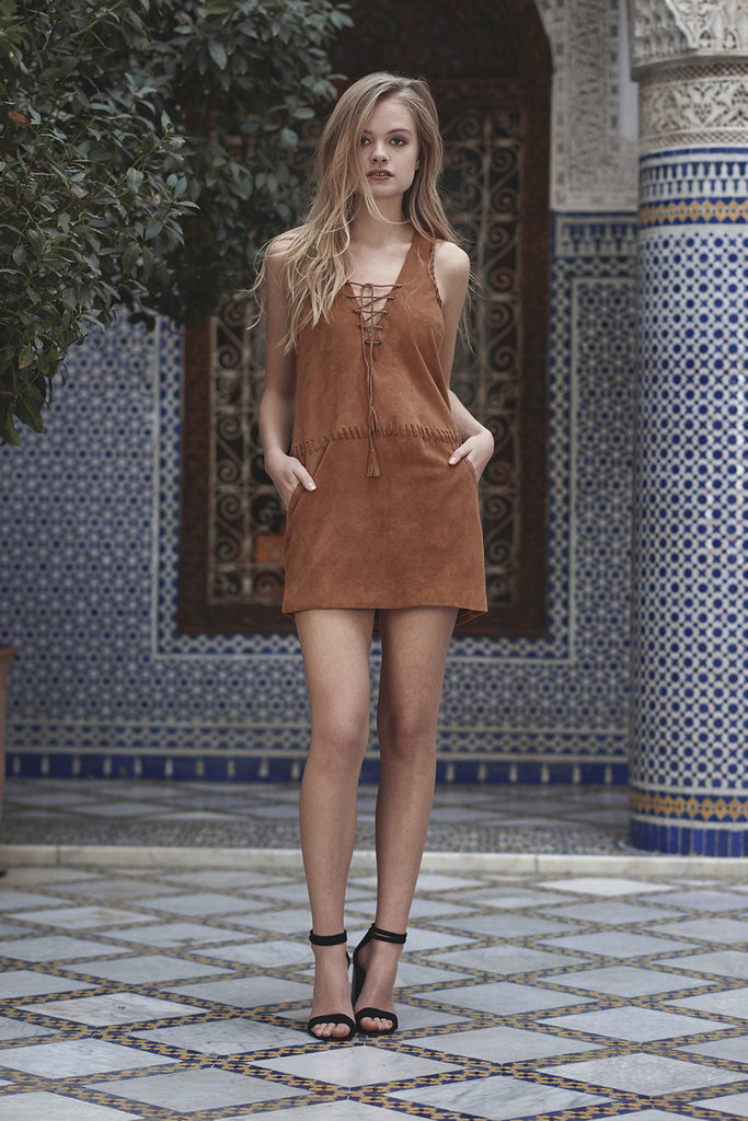 Hazan Suede Mini Dress