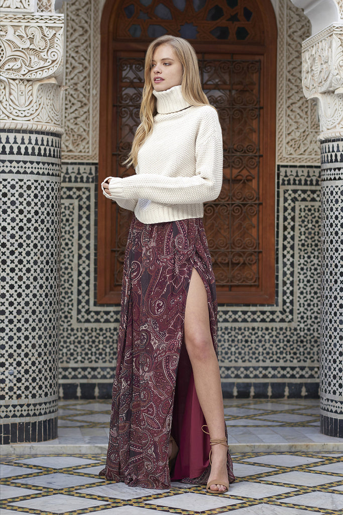 Labyrinth Paisley Maxi Skirt