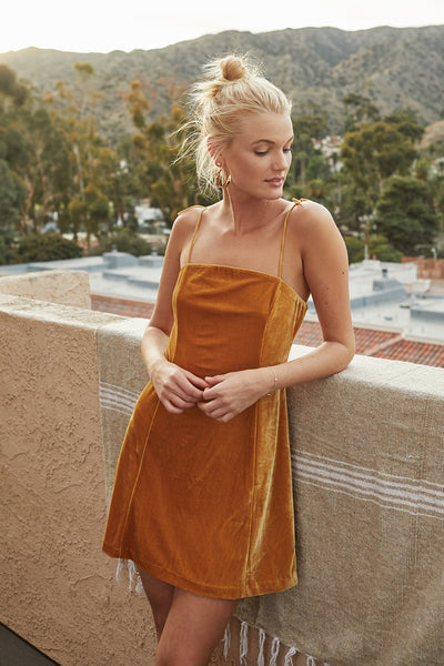 GOLDEN HOUR MINI DRESS