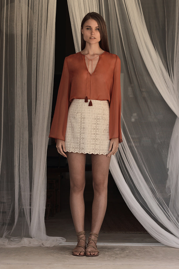 ANDRESS LASERCUT MINI SKIRT