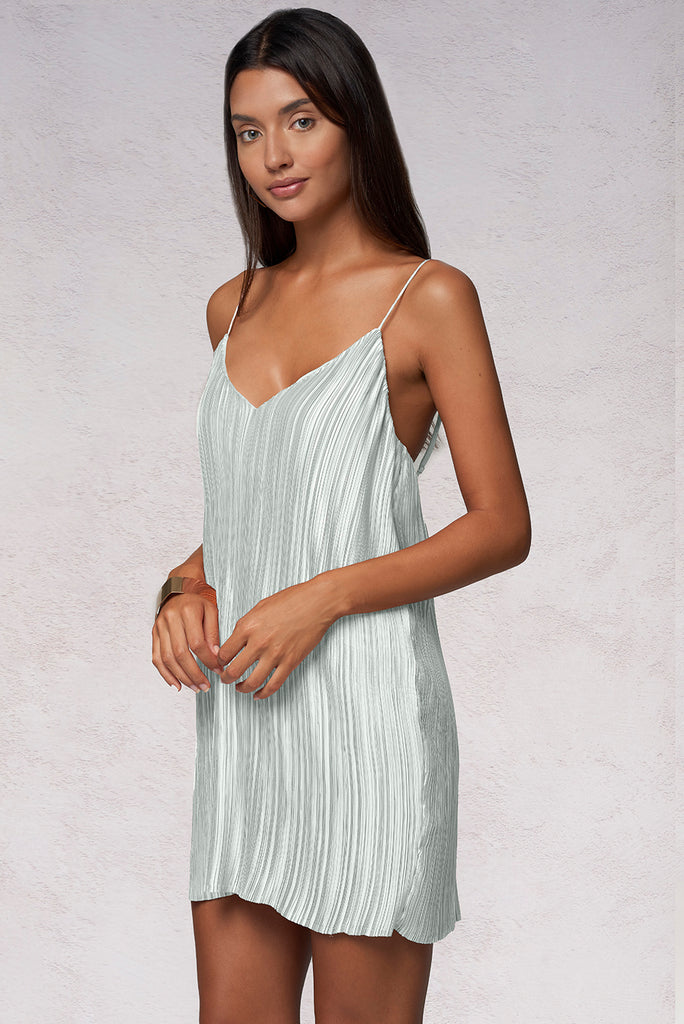 PRIMAVERA MINI DRESS - SILVER
