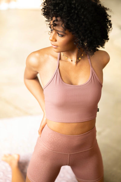 sam crop top mauve