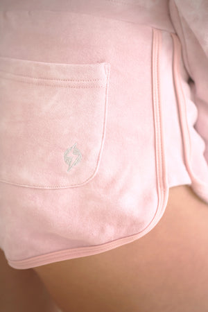 Tie-Dye Lounge Shorts - Rose Quartz