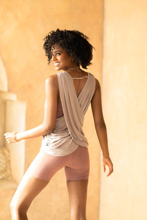 Flow Drape Back Tank - Sand