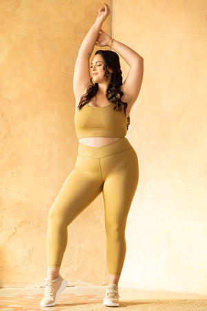 Tone Crossfront Leggings - Golden Cheetah