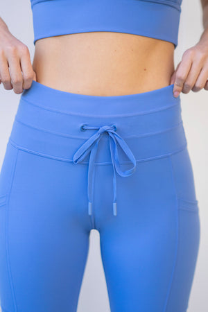 Cargo Drawstring Legging - Sailor Blue