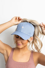 Daisy High Ponytail Cap - Periwinkle