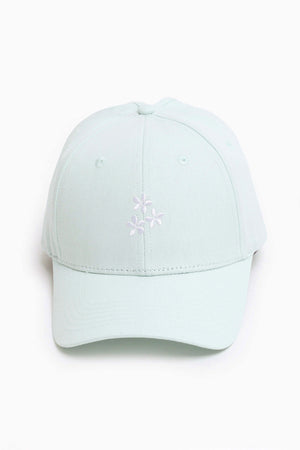 Flower Friends High Ponytail Cap - Baby Blue