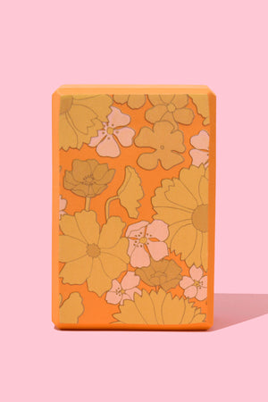 Flower Power Yoga Block