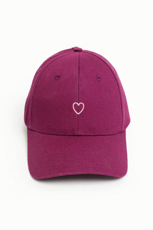 Little Heart High Ponytail Cap - Dusky Orchid