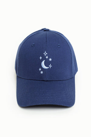 Moon 'n Stars High Ponytail Cap - Deep Sea