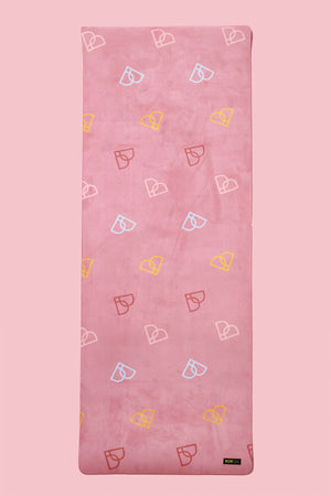 POP Pilates® Little Hearts Vegan Suede Yoga Mat