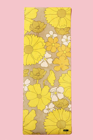 Flower Power Vegan Suede Yoga Mat