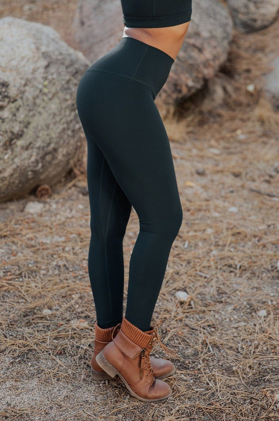 Alpine Legging (anti-camel toe) - Evergreen