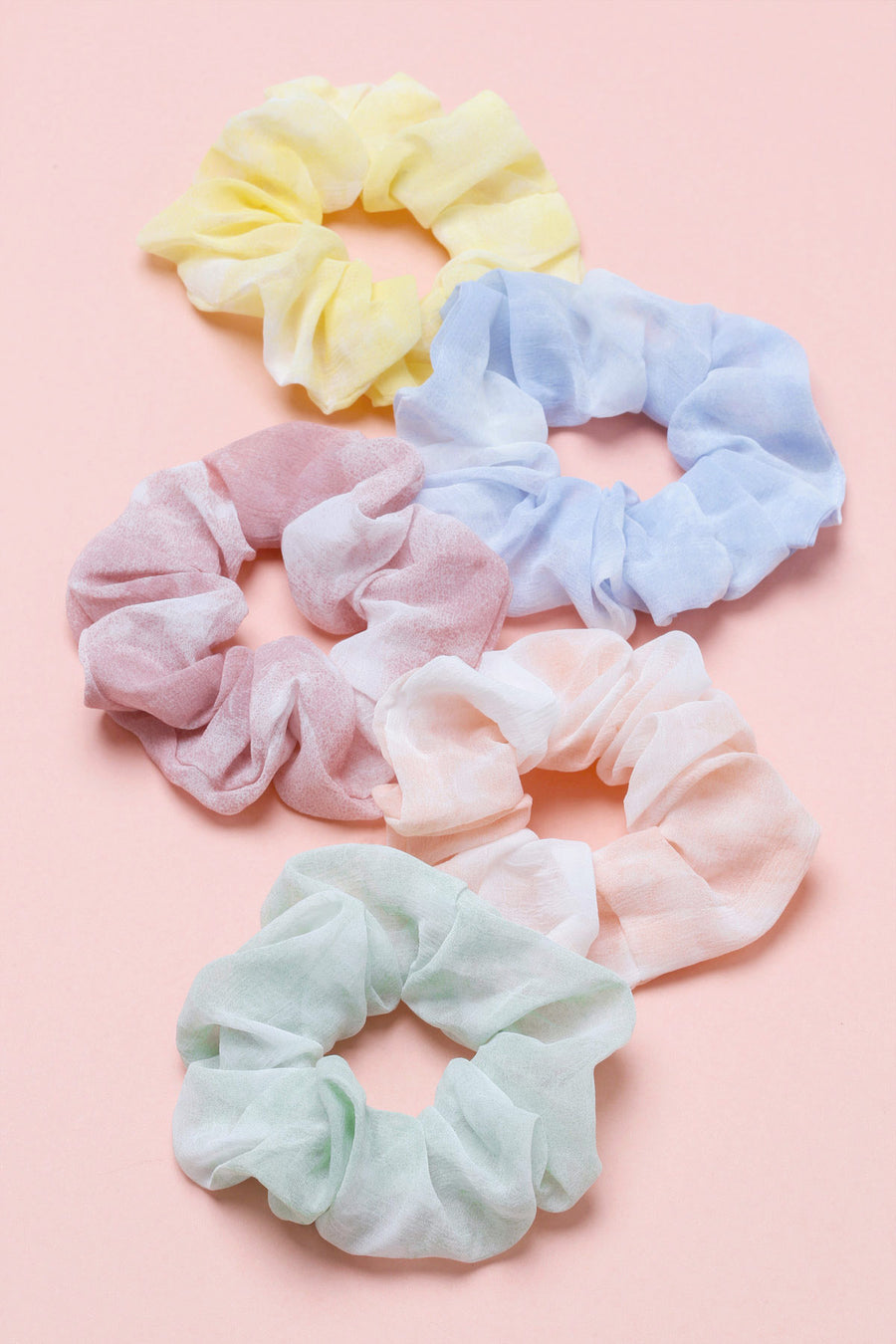 Rainbow Scrunchie Set (5 Pack)