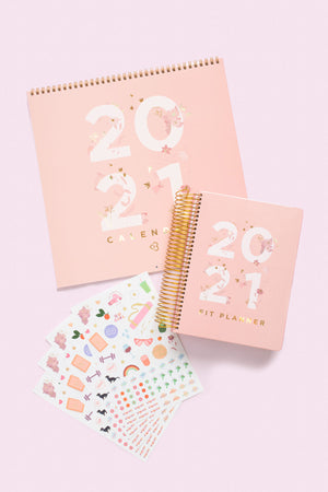 2021 Floral Bundle - Planner, Calendar & Stickers