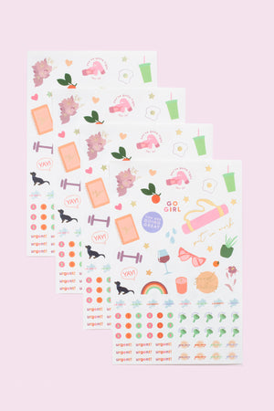2021 Fit Planner + Stickers - Floral
