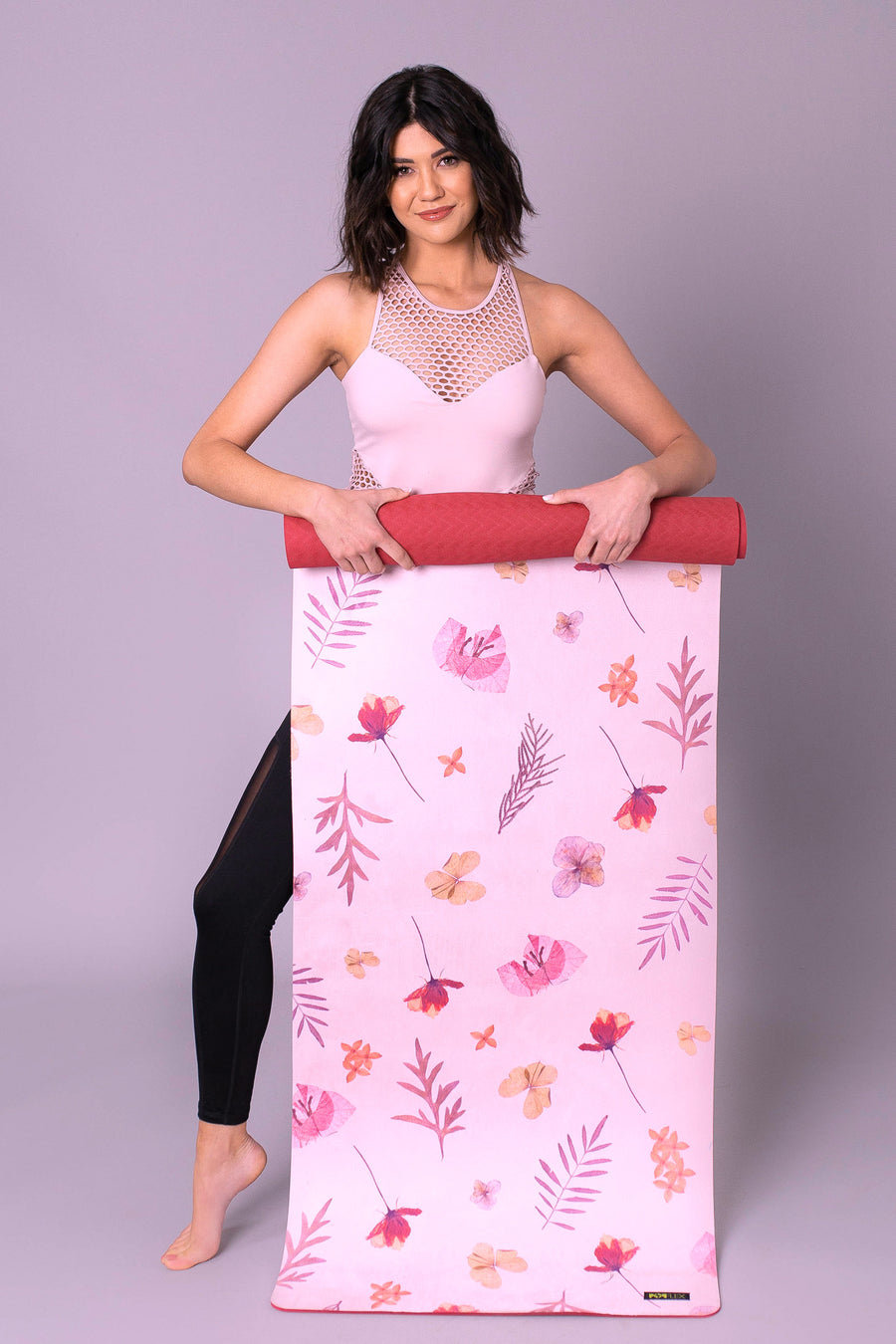 Pressed Flowers Vegan Suede Yoga Mat