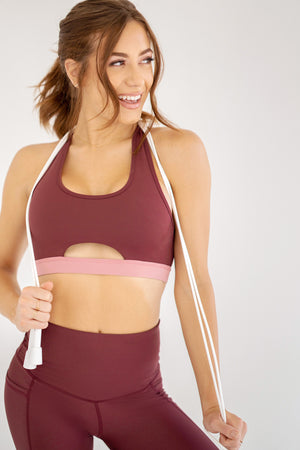 Flow Motion Bra - Crimson