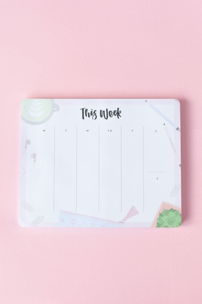 Blogilates Weekly Planner Desk Pad Stationery