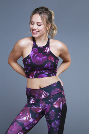 Curious Crop Top - Dark Bloom Sports Bras