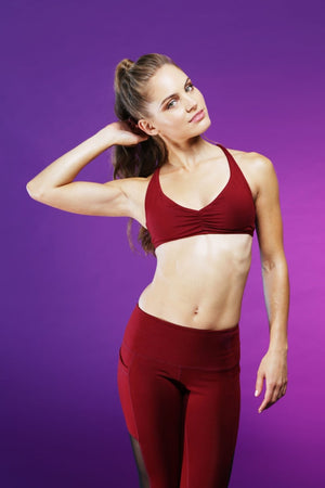 Heart Strings Bra - Cabernet Sports Bras