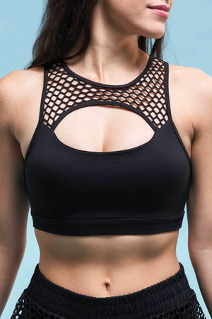 Keyhole Bra - Black Sports Bras