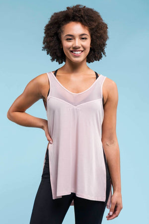 Whimsy Slit Tank - Blush Tanks