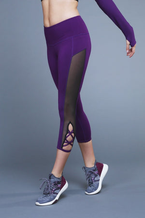 Wishing Star Capri - Plum Leggings