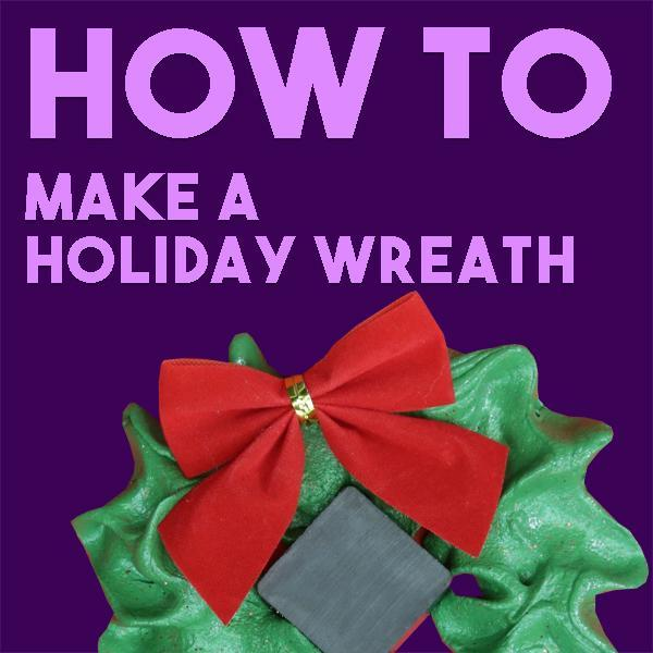 HOW TO: Make A Magnetic Winter Wreath