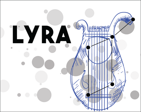 Lyra Constellation Card