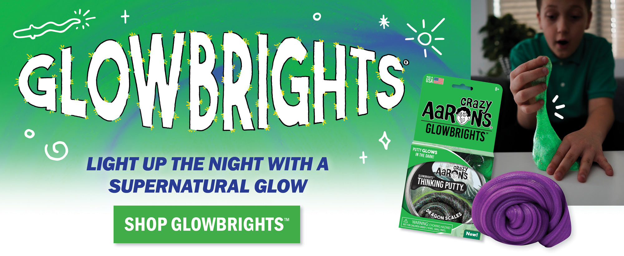 Glowbrights Thinking Putty | Glow in the dark