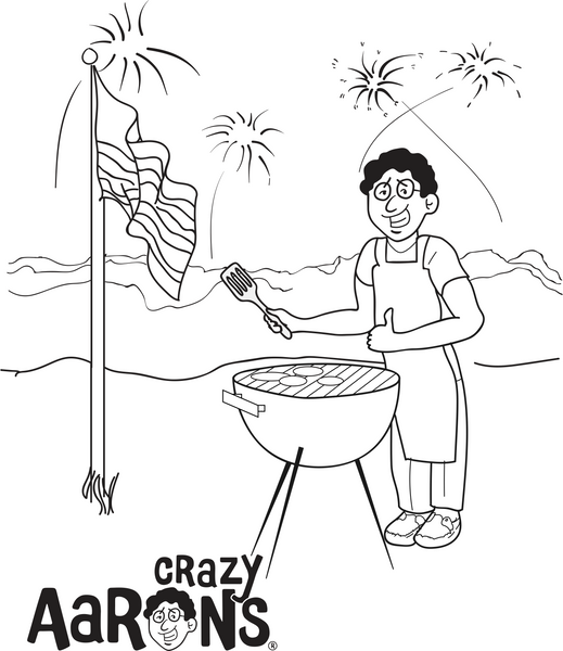 Crazy Aaron's Summer Coloring Book Page