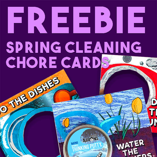 FREE Crazy Aaron's Spring Cleaning Chore Cards