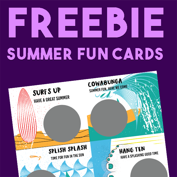 Free Summer Fun Thinking Putty Cards