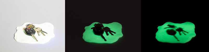 Glow in the Dark Shadow Photos with Crazy Aaron's Thinking Putty