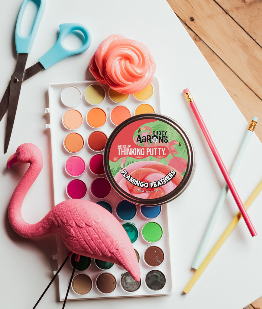 Flamingo Feathers Thinking Putty Creative Play