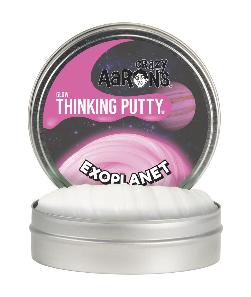 Exoplanet Pink Glow Thinking Putty