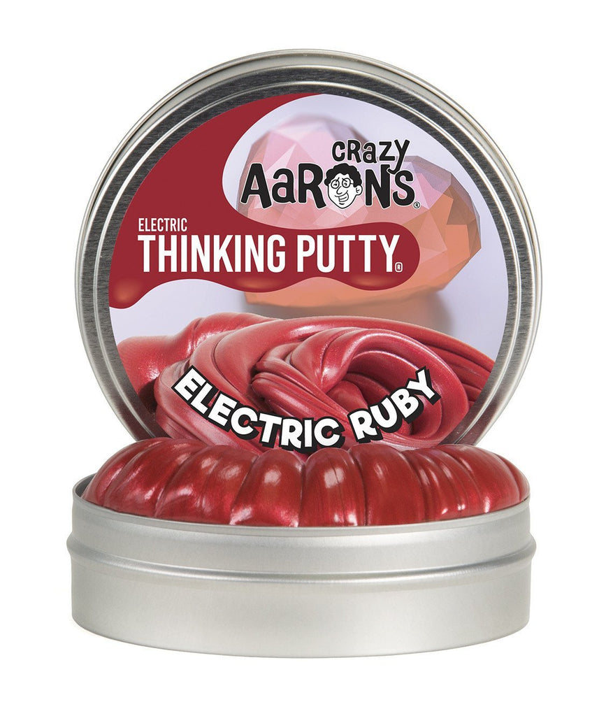 Crazy Aaron's Puttyworld Electric Ruby Thinking Putty
