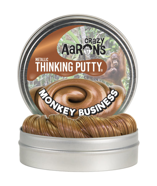 Crazy Aaron's Puttyworld Monkey Business | Metallic Thinking Putty