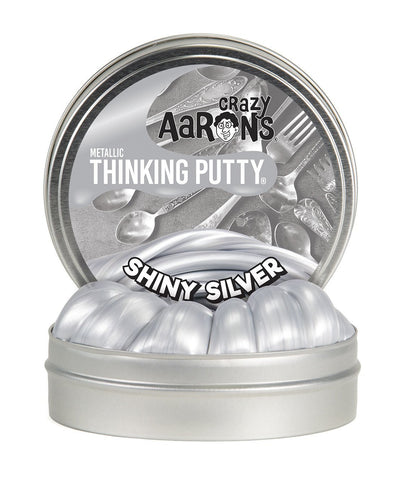 Shiny Silver | Metallic Thinking Putty