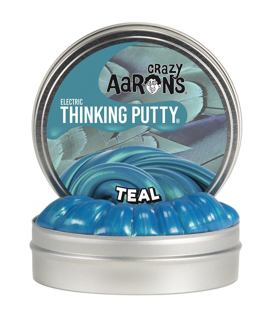 Crazy Aaron's Puttyworld Teal | Electric Thinking Putty