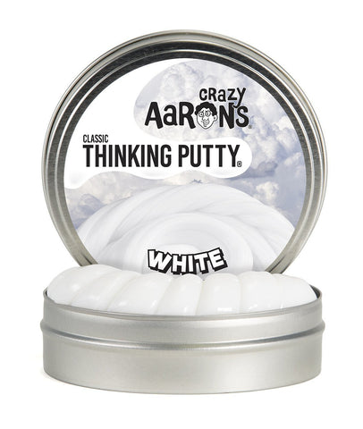 Crazy Aaron's Puttyworld White | Classic Thinking Putty
