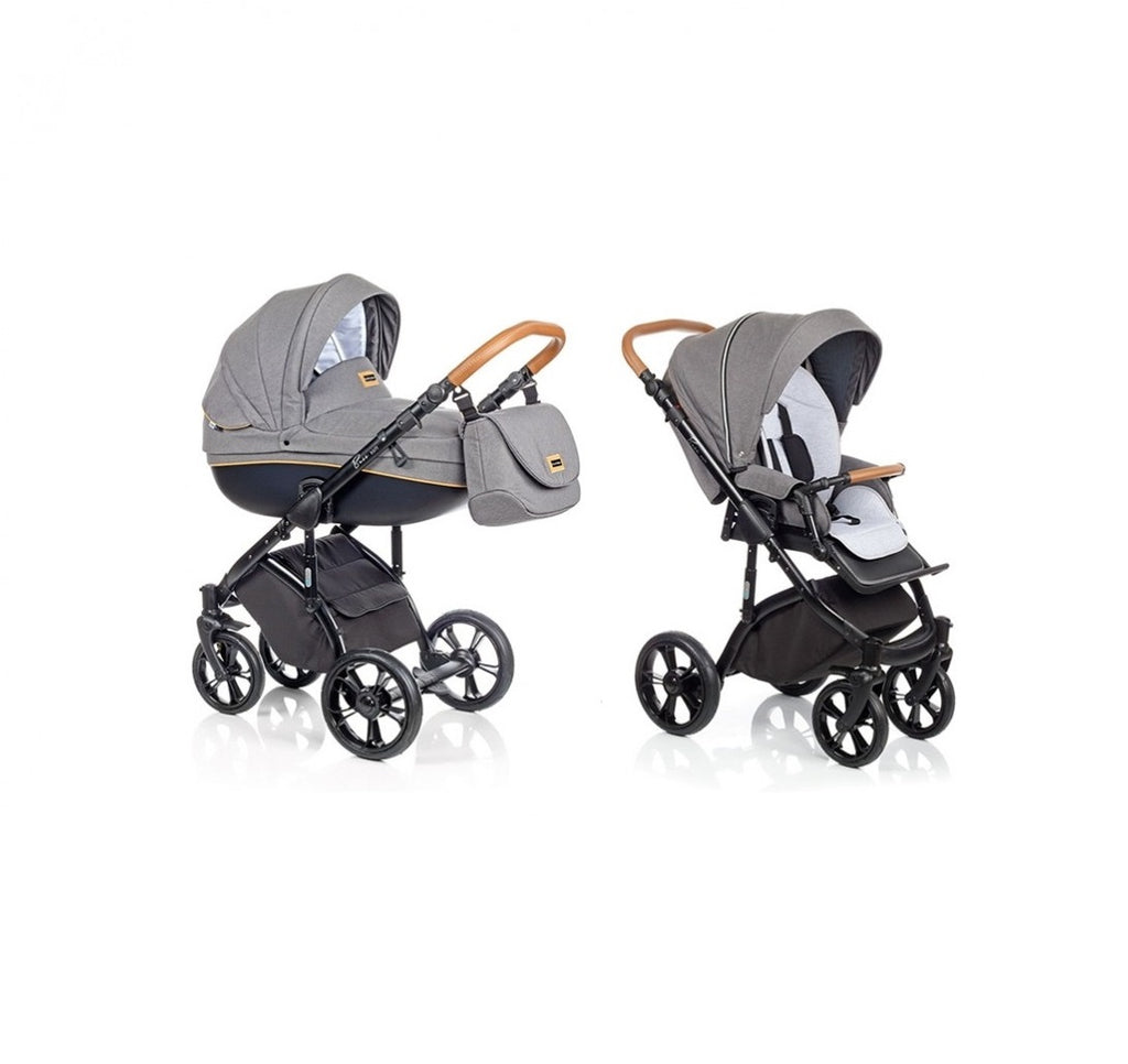 BASS Soft Stroller with Bassinet and reversible seat