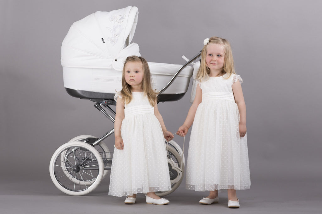 Bigger Air-Inflated Wheels for Classic Pram Strollers with Bassinet