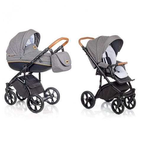 Bass Soft Stroller with Bassinet air-inflated sviwel wheels